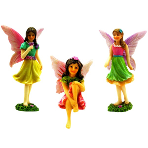 3 Fairy Figurine Set