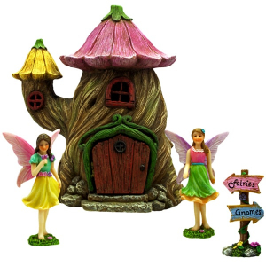 Flower Stump Fairy Garden House