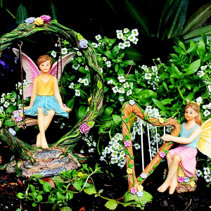 Fairy Garden Harp and Swing Set
