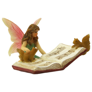 Fairy Bonnie and Musicbook - Fairy Figurine