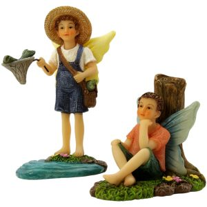 Fishing Buddies - Fairy Garden Fairy Figurine